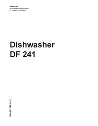 Gaggenau Dishwasher DF 241 User Manual