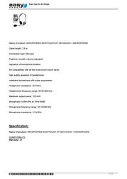 EasyTouch ET-264 NACHO Leaflet