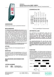 Hsb Industrieelektronik 011125 Time Delay Relay, Timer, DPDT-CO 24/230 Vac 011125 User Manual