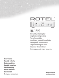 Rotel RA-1520 User Manual