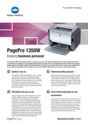 Konica Minolta PagePro 1350W 4136212 Leaflet