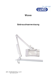 Glamoxluxo WAVE PLUS 1.9 x - 3.5 dioptre Magnifying Workshop Lamp WAS025259 User Manual