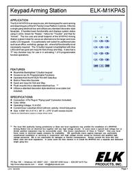 ELK Keypad Arming Station -M1KPAS User Manual
