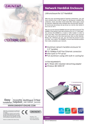 """Eminent 3.5"""" Network hard disk enclosure EM4060 Leaflet"""