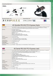 Actebis Exsys EX-44093 PCI-Express 4S Serial RS-232 card 15.06.1103 Leaflet