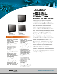 American Dynamics ADMNLCD20 Data Sheet