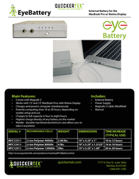 QuickerTek EyeBattery MFC12311 Leaflet