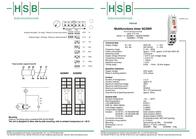 Hsb Industrieelektronik SOZMR1 Time Delay Relay, Timer, SPST-NO 24/230 Vac SOZMR1 Data Sheet