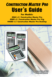 Calculated Industries Construction Master Pro User Guide