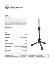 Koenig Meyer K + M Table Tripod 23150-300-55 Data Sheet
