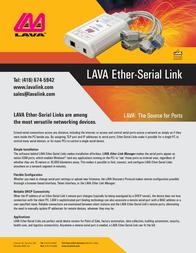 Lava ESL4-232-DB9 Leaflet