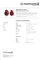 Scandyna Micropod SE Active MICPSEACTR11103 Merkblatt