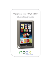 Barnes & Noble Nook Tablet Quick Setup Guide