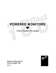 Fender Power Stage 100 User Manual