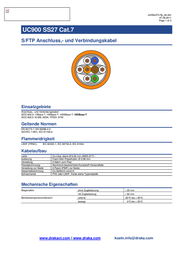 Draka Orange 1001129-00100RW Data Sheet