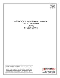 General Dynamics Network Hardware LT-3600 User Manual