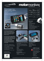 PowerTraveller MotorMonkey MM001 Leaflet