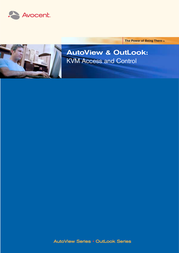 Avocent AutoView 200 2x4 KVM Switch - 2 users, 4 systems, switch with receiver AV200R-4-EU User Manual