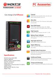 Woxter Power Bank 3800 PE26-061 产品宣传页