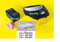 Rona Headband Magnifier with LED lights 460 202 1.2x/ 1.8x/ 2.5x/ 3.5x 460 202 Data Sheet