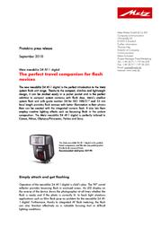 Metz 24 AF-1 243149A User Manual