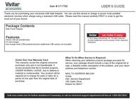 Vivitar Network Card V11788 Leaflet