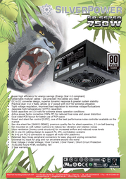 Silver Power Green Power 750W SP-SS750M Leaflet