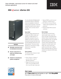 IBM TS ESERVER X205 P4-2.8G P052GBE Leaflet