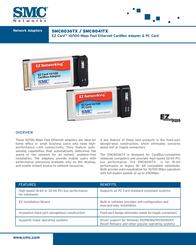SMC EZ PC Card 10/100 SMC8041TX V.2 Leaflet