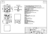 Kraecker Kräcker 12 Vdc Automotive Relay 15 A 14.0500.10 Data Sheet