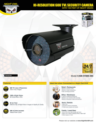 NIGHT OWL CAM-OV600-365 Leaflet