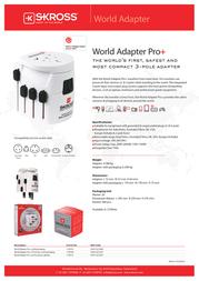 Skross World Adapter Pro+ 1.103100 Leaflet