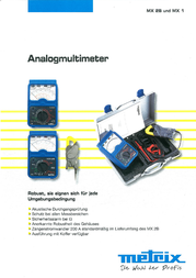 Metrix Digital-Multimeter, DMM, MX0002B Data Sheet