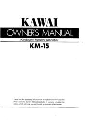 Kawai Keyboard Monitor Amplifier KM-15 User Manual
