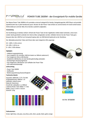 MiPow Power Tube 2600M SP2600M-NB Information Guide