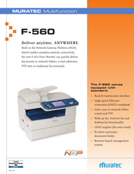 Muratec F-560 Specification Guide
