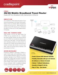 Cradlepoint CTR500 Leaflet
