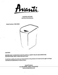 Avanti W852 Manual De Usuario
