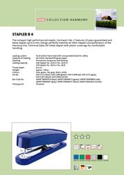 Novus Stapler B4 Blue 020-1272 Leaflet