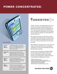 Palm TUNGSTEN T2 HANDHELD P80860MLS Leaflet