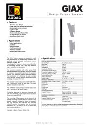 AUDAC GIAX GIAX/W Leaflet
