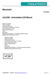 Mountech AJL22B Dépliant
