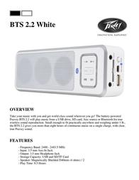 Peavey Electronics BTS 2.2 White 03017010 Leaflet