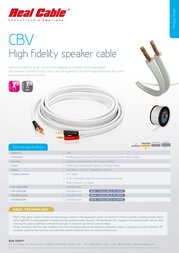 Real Cable CBV260016/60M Leaflet