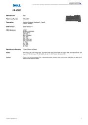 Origin Storage Internal Notebook Keyboard - French KB-JC937 Leaflet