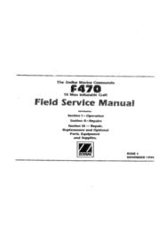 Zodiac Boat F470 User Manual