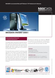 Maxdata Favorit 5000 371265 Leaflet