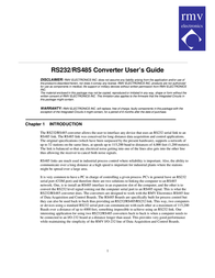 Procom Converter RS485 User Manual