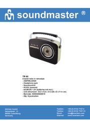 Soundmaster TR-60 Leaflet