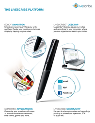Livescribe 8GB Echo Pro Pack APX-00007 User Manual
